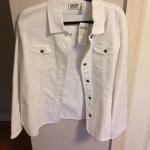 NWT Chico's white denim jacket size 3/XL to XXL